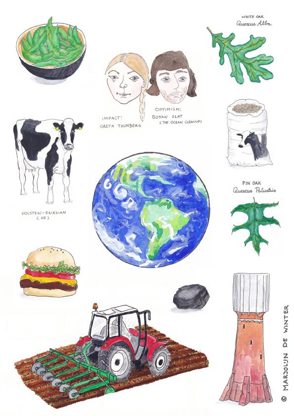 MATS: redactioneel werk over zelf klimaatverandering tegengaan. Spot-illustraties